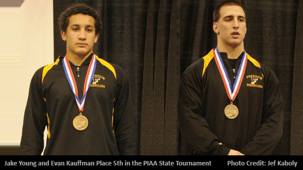 Evan Kauffman and Jake Young both place 5th in PIAA States.