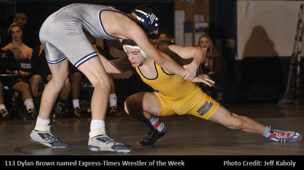 Express-Times Names Dylan Brown Lehigh Valley Wrestler of the Week