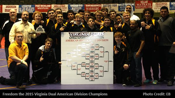 Freedom Wins VA Duals American Division Championship