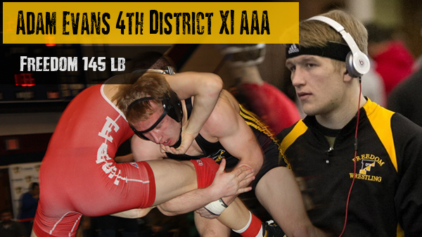 Adam Evans Places 4th at PIAA District XI Tournament