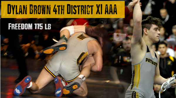 Dylan Brown Places 4th in the PIAA District XI Tournament