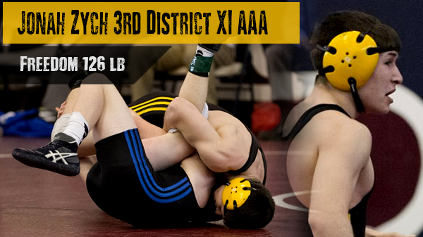 Jonah Zych Places 3rd in the PIAA District XI Tournament