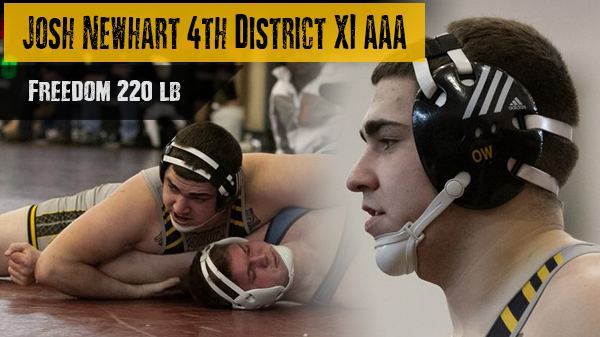 Josh Newhart Places 4th at PIAA District XI Tournament