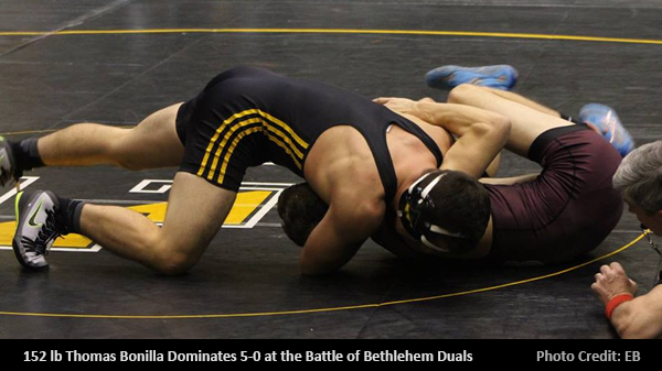 Thomas Bonilla undefeated 5-0 at the season opener.