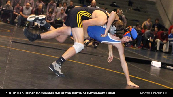 Ben Huber 4-0 at the Battle of Bethlehem Dual