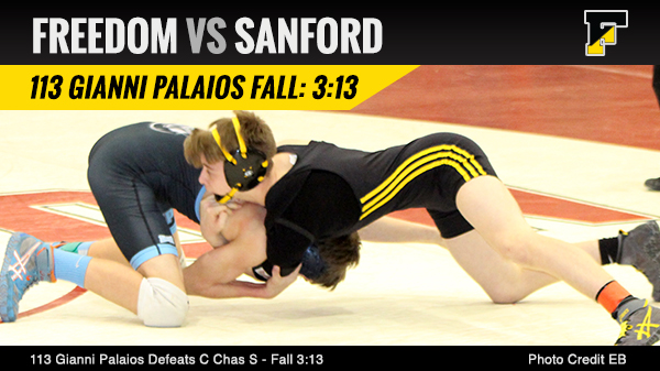 Gianni with a Huge Win Over Sanford.