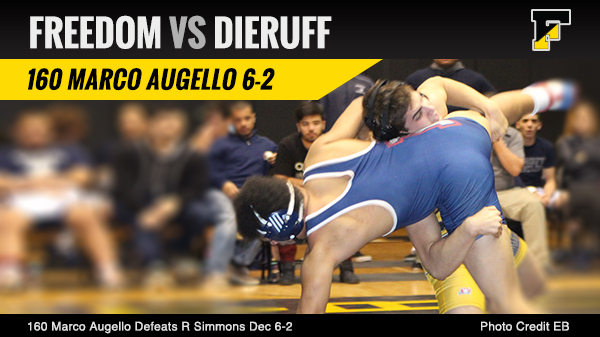Freedom Defeats Dieruff 38-22