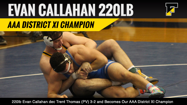 Evan Callahan 2016 District XI AAA Champion