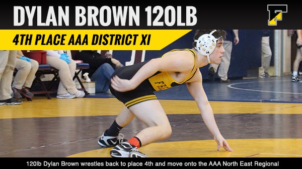 Dylan Brown 4th Place AAA District XI