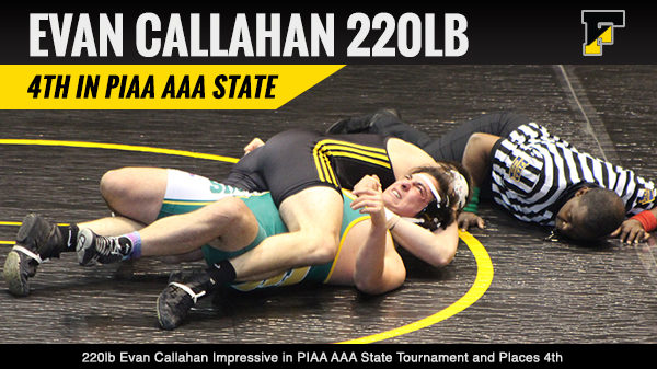 Congrats to Evan Callahan PA State AAA 4th Place Medal Winner.