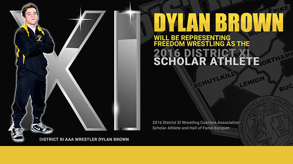 Congrats to Dylan Brown District XI Scholar Athlete