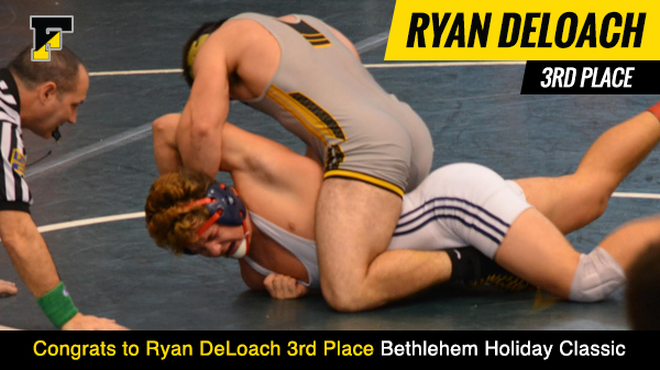 Ryan DeLoach Places 3rd in the Bethlehem Holiday Classic