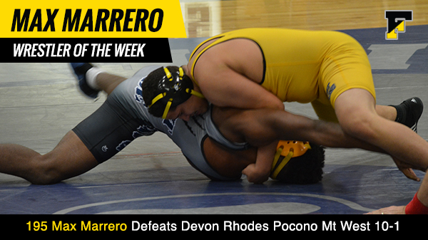 Wrestler of the Week Max Marrero