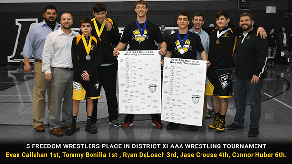 5 Freedom Wrestlers Place at District XI