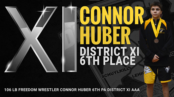 Connor Huber 6th Place District XI