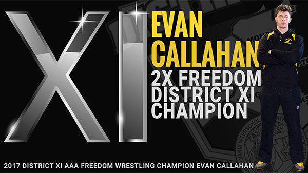 Evan Callahan 2X District XI AAA Champion