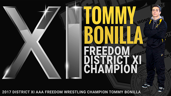 Tommy Bonilla 2017 District XI AAA Champion