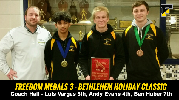 Andy, Luis and Ben Place at Bethlehem Holiday Classic 2017