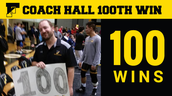 Coach Hall with his 100th Win