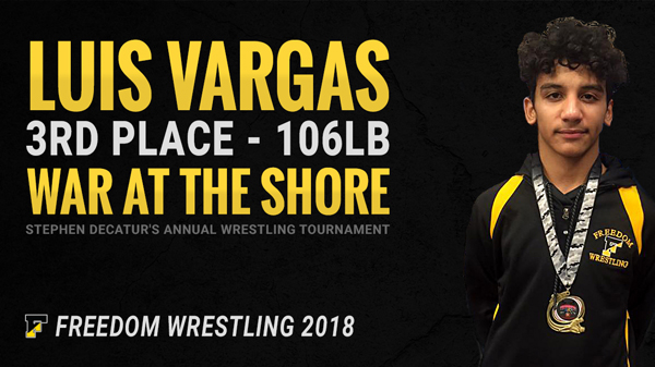 Luis Vargas 3rd Place War at the Shore