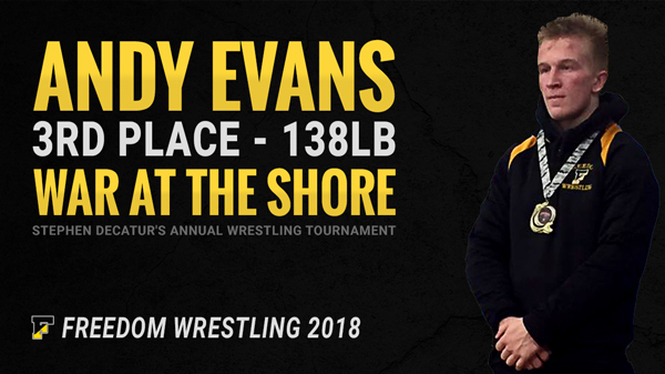 Andy Evans 3rd Place War at the Shore