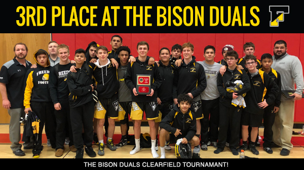Freedom Wrestlers Place 3rd at the Bison Duals