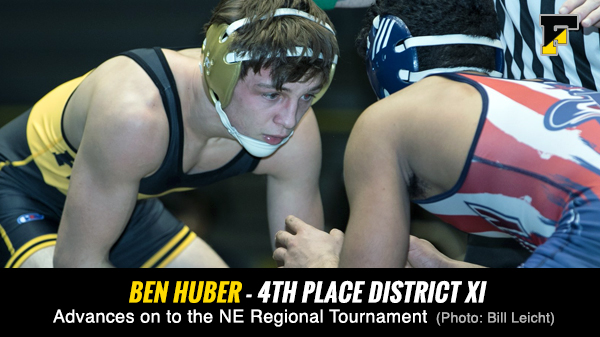 Congrats to Ben Huber – 4th Place AAA District XI