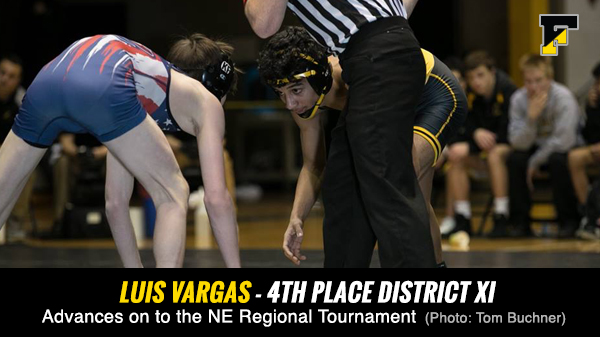 Congrats to Luis Vargas on placing 4th at AAA District XI