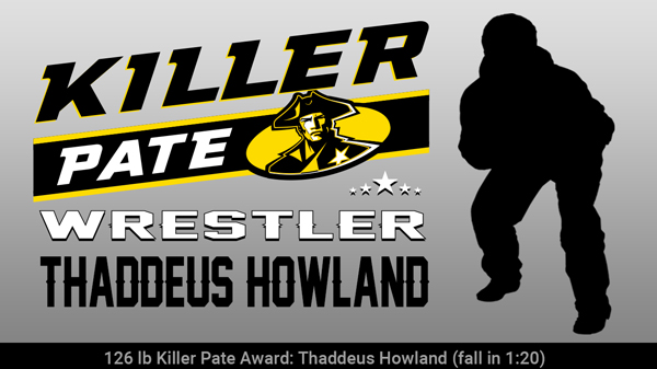 Wrestler Thaddeus Howland Wins Killer Pate Award